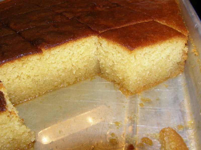 Greek Syruped Cake - Ravani