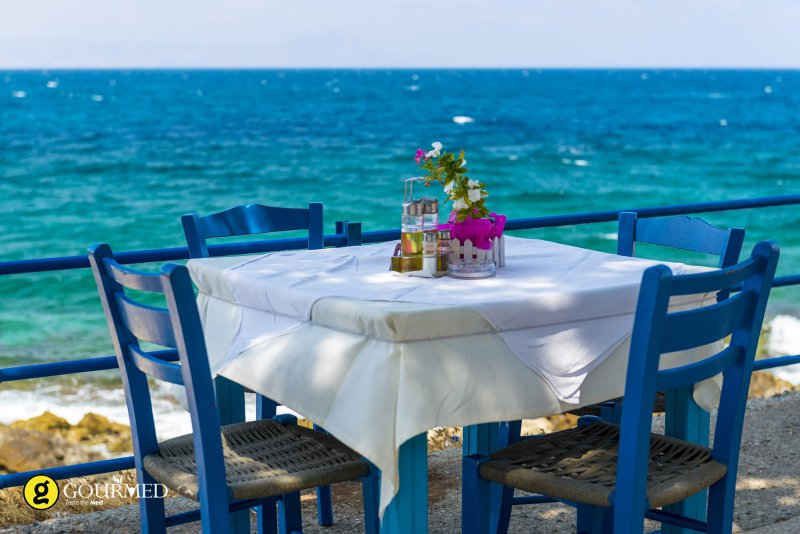 Greek taverna table