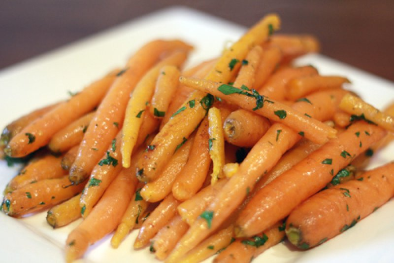Carrots glazed with honey