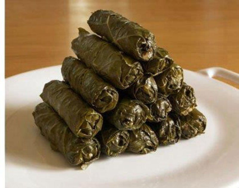 Grape Leaves Stuffed with Rice and Herbs-Dolmas