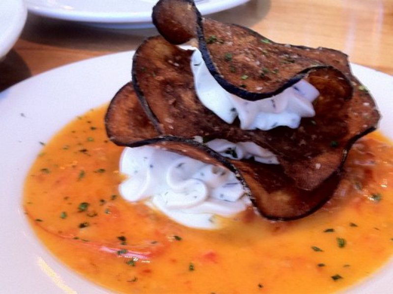 Grilled Eggplant Mille Feuille with Tomato Sauce & Strained Greek Yogurt