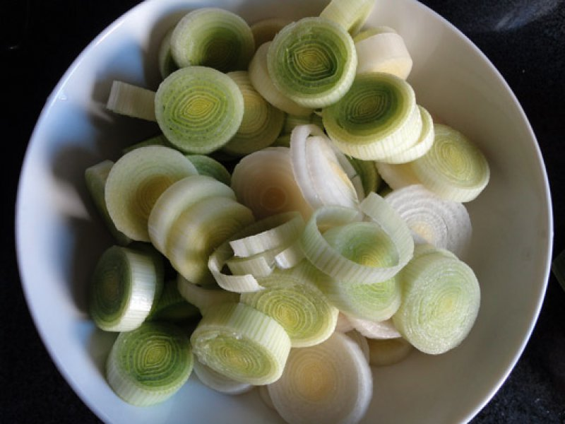 Beans with Leeks