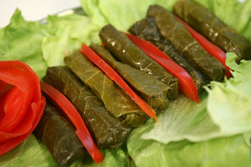 Goat Cheese with Vine Leaves and Peppers