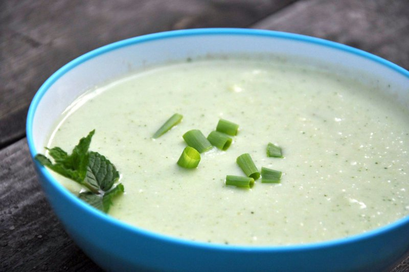 Soup with Yogurt and Mint