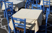 320 x 320: FOOD - GREECE - TAVERNA - BLUE CHAIRS