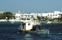 320 x 320: GREECE - CYCLADES - ANTIPAROS - FISHING BOAT