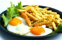 ORIGINAL: FOOD - FRIED EGGS AND FRENCH FRIES