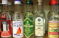 210 x 210: DRINK - GREECE - VARIETY OF OUZO BOTTLES