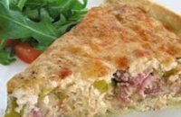 LEEK AND SMOKED HAM TART