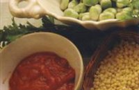210 x 210: FOOD - BROAD BEANS - TOMATO SAUCE