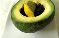 210 x 210: FOOD - AVOCADO WITH LUMPFISH ROE AND LEMON