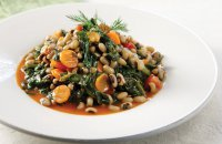 Black Eyed Beans with Spinach