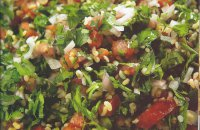 Middle Eastern salad, light, vegan, tabbouleh, mint, parsley
