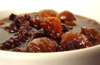 Figs with Honey and Spices, almonds,