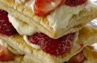 Millefeuille with Mascarpone and Strawberries