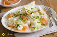Farfalle pasta with Smoked Salmon and Grappa