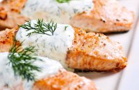 Salmon with Cream Cheese Sauce