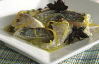 Bream Carpaccio Spiced with Chios Mastiha