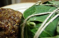 Dried figs and walnuts wrapped in vine leafs-Sikomayades