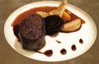 Wild Boar Fillet with Compote of Dogwood Berries and Quince