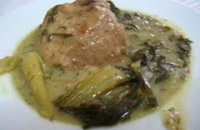 Pork with Celery and Egg lemon sauce