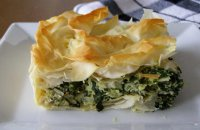 Traditional Greek Greens Pie - Lachnopita