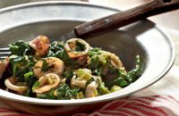 Squid with Spinach