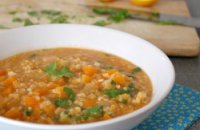 Bulgur, Sausage and Rosemary soup