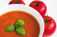cold tomato soup with herbs from Mid East