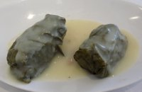 Grape Leaves stuffed with Rice and Crabmeat