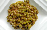 Fresh Peas Stewed with Tomatoes, Olive Oil and Dill