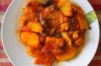 Potato Stew with Olives - Patates yahni me elies