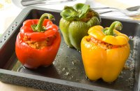 Peppers Stuffed with Quail Meat and Chestnuts