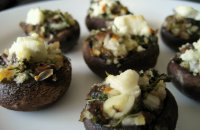 mushrooms stuffed, cheese grated,