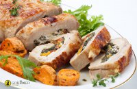 Pork Tenderlion Stuffed with Apricots and Prunes