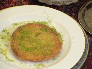 konefe, Egyptian Shredded Phyllo pie with a custard middle