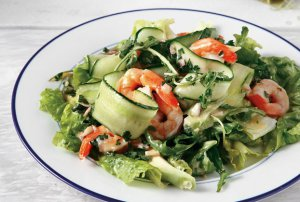 Prawns and avocado salad